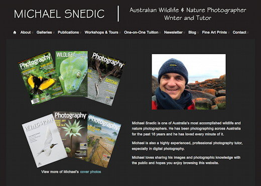 Michael Snedic - Professional Wildlife and Nature Photographer / Natural History Writer