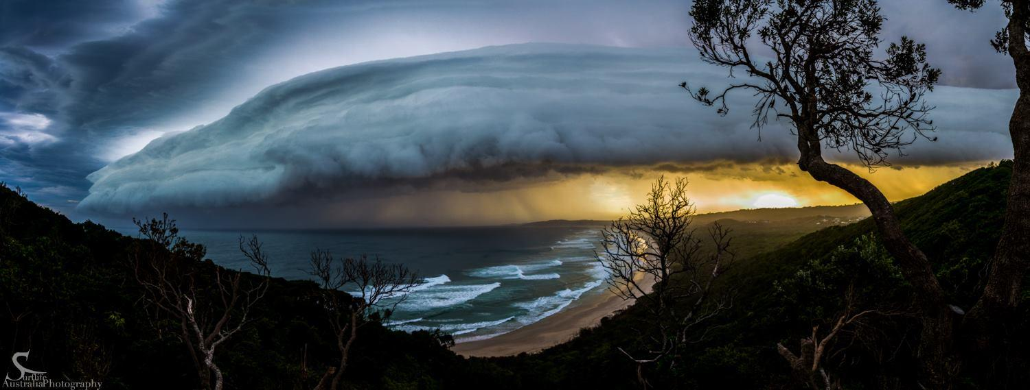 Surflife Australia Photography - Super Cell Passed over Tallow's Beach Byron Bay - March 16
