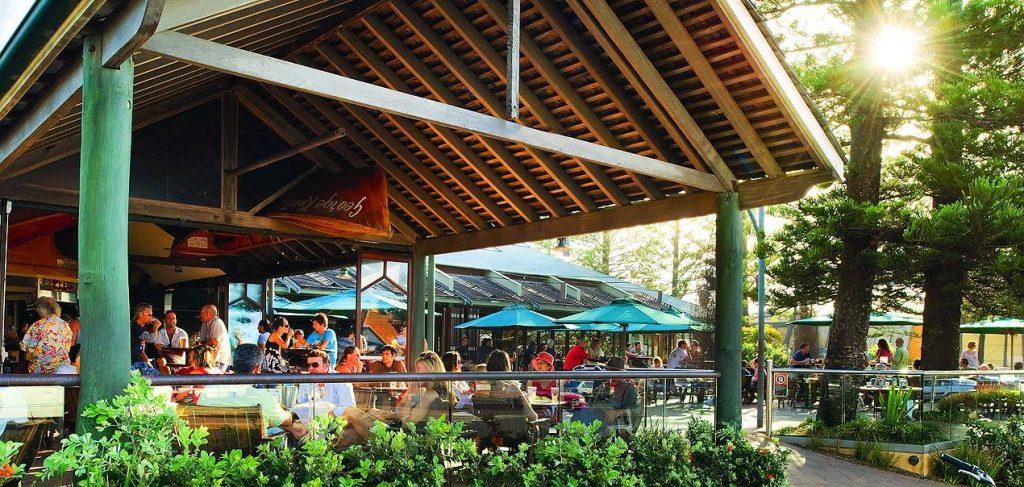 Byron beach hotel beer garden