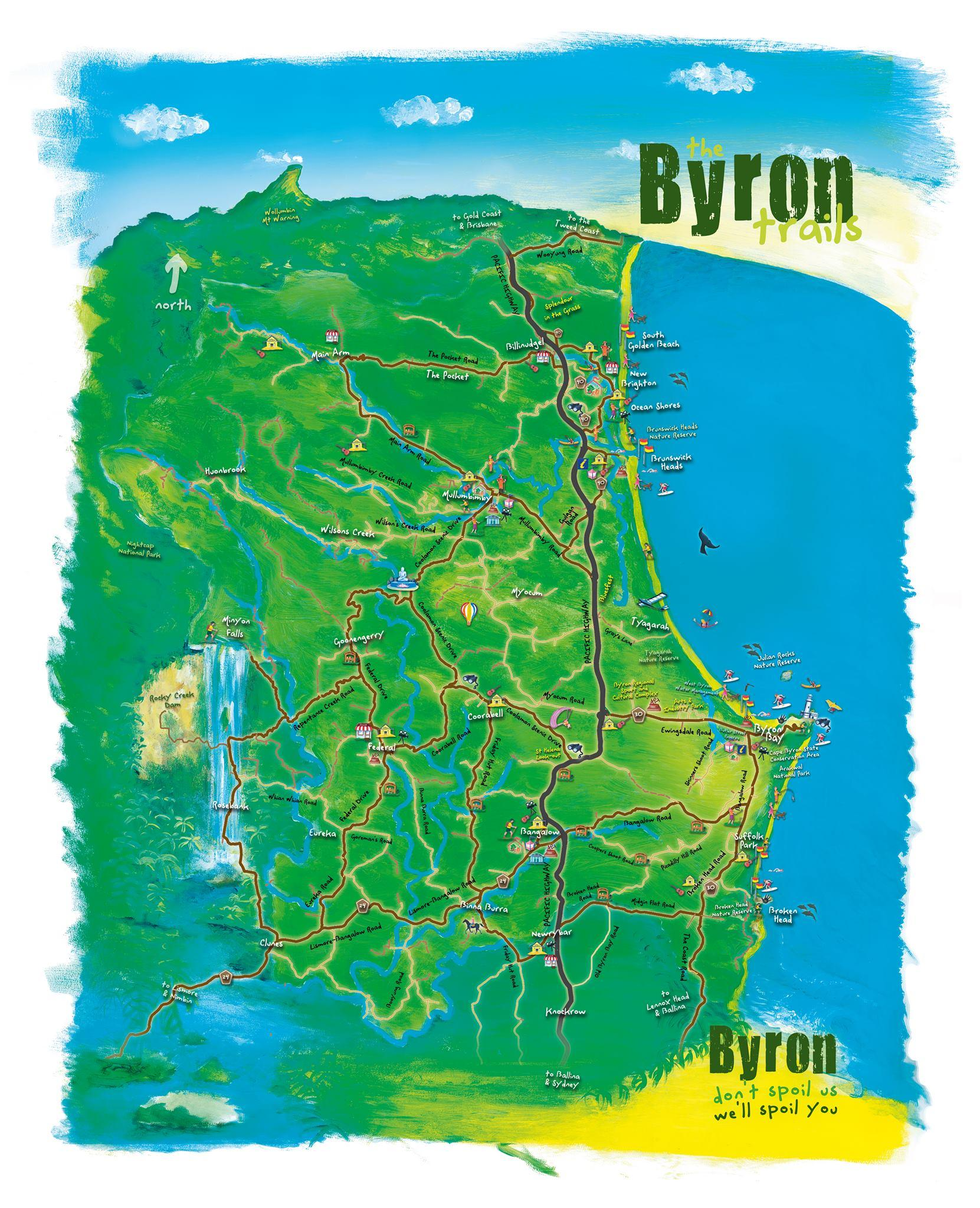 Byron Trails Map