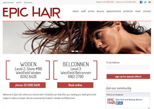 Epic Hair » Woden and Belconnen