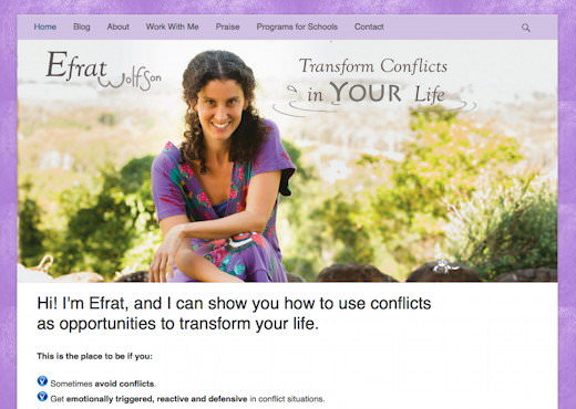 Efrat Wolfson - Transform Conflicts in YOUR life!